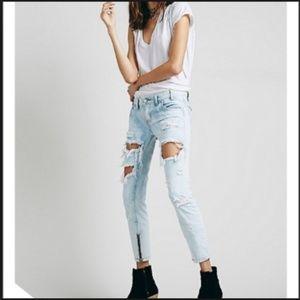 One Teaspoon Trashed Freebirds Dirt Distress Jeans